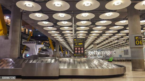 Empty baggage carousel at the airport