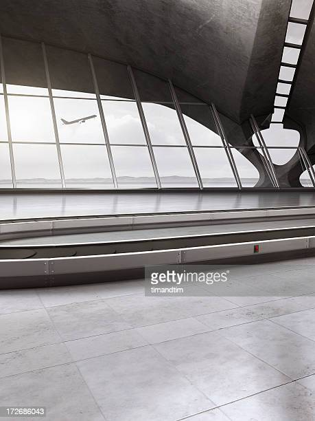 Empty baggage reclaim area in airport