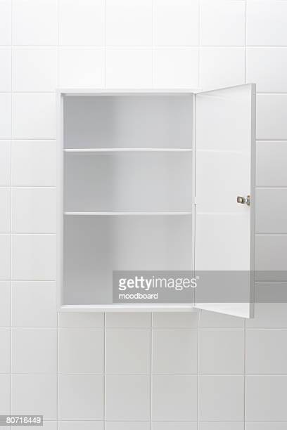 Empty bathroom cabinet
