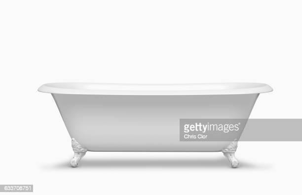 Empty bathtub in studio