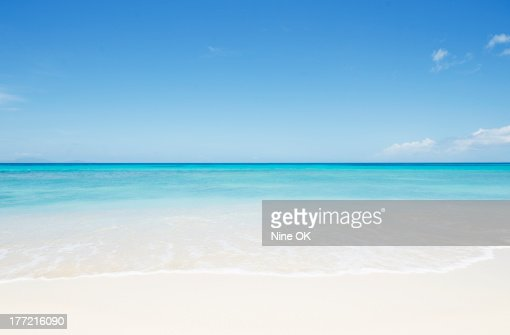 Empty beach, Antigua