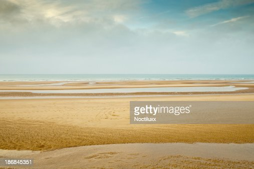 Empty beach in northern France