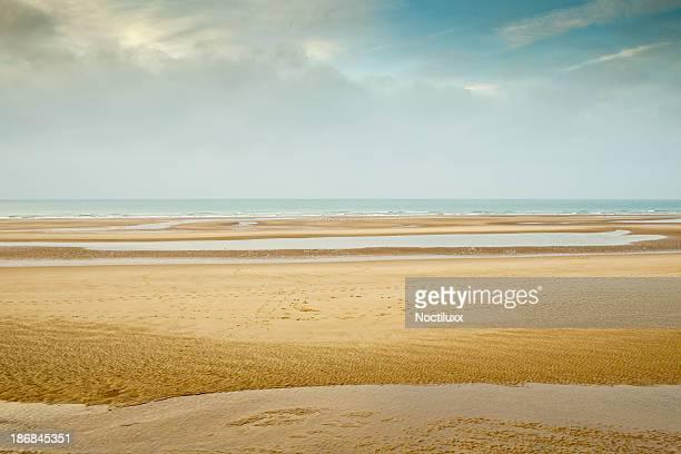 Leere beach im Norden von Frankreich