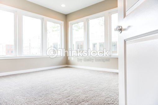 Empty Bedroom Entrance In New Modern Luxury Apartment Home With Many