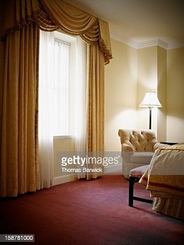 Empty bedroom in hotel suite : Stock Photo