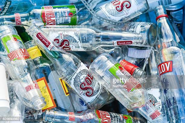 Empty beer bottles outside a pub On Thursday 24 November 2016 in Dublin Ireland