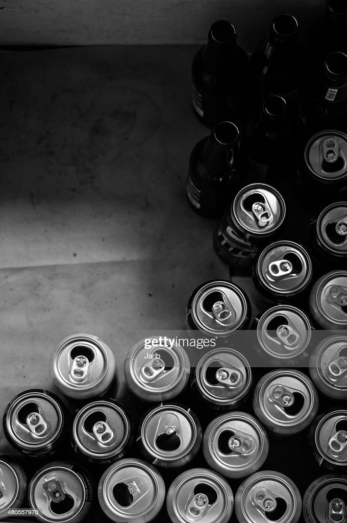 Empty Beer Cans : Stock Photo