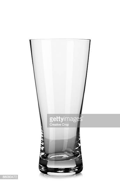 Empty beer / lager glass
