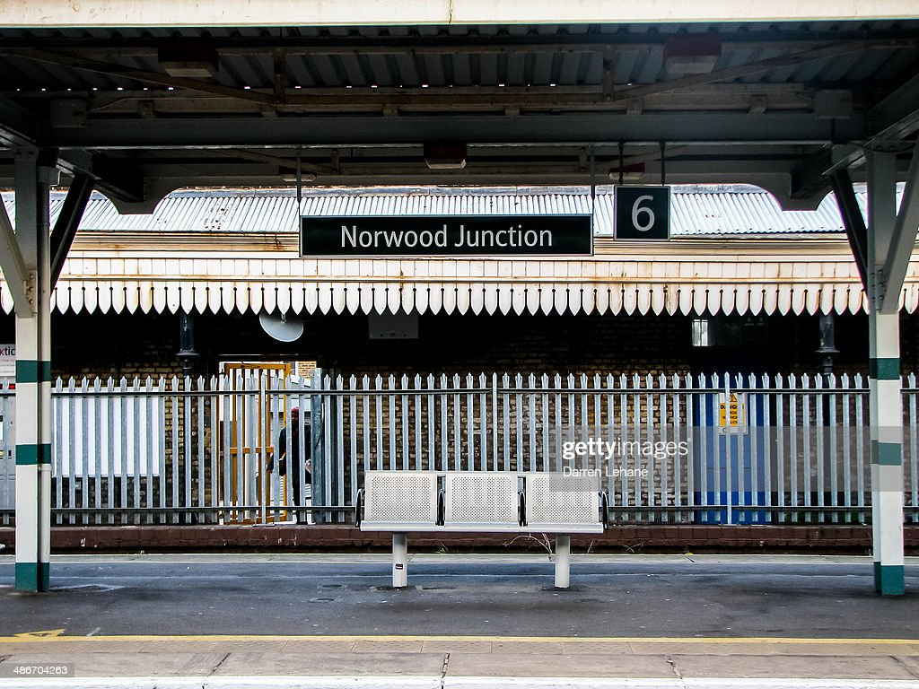 Empty Bench at Norwood Junction - Horizontal