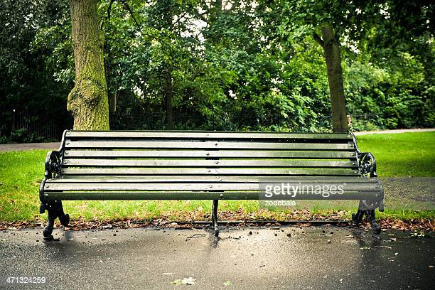 Empty Bench in Regent's Park, London