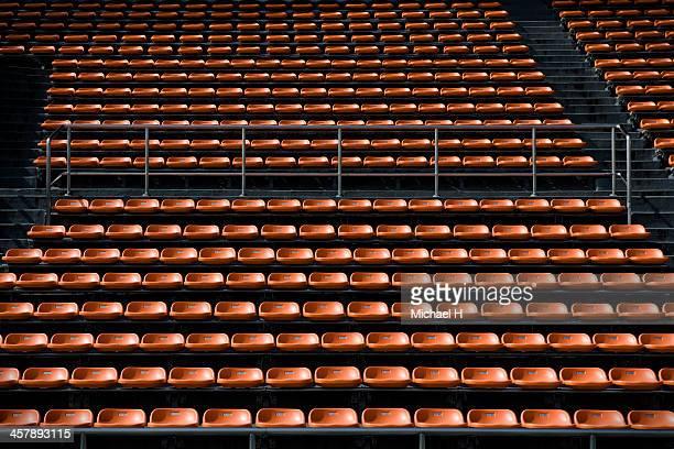 empty Bench in stadium