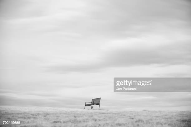 Empty Bench on the Horizon