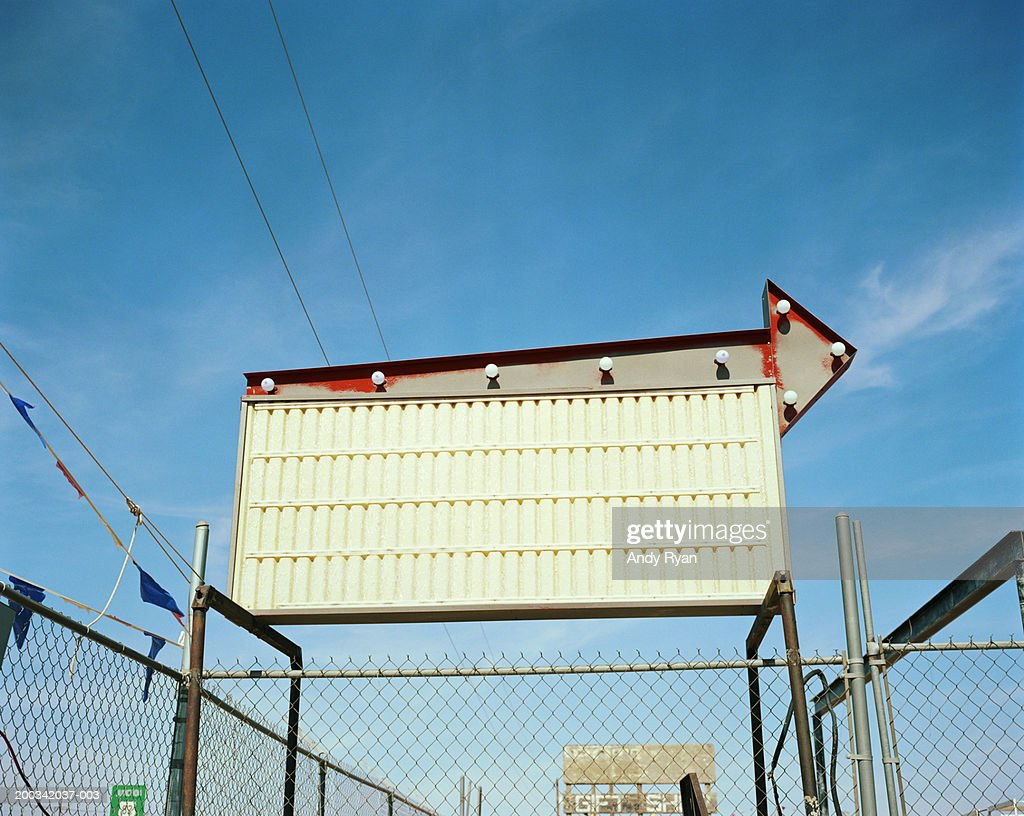 Empty billboard, low angle view : Stock Photo