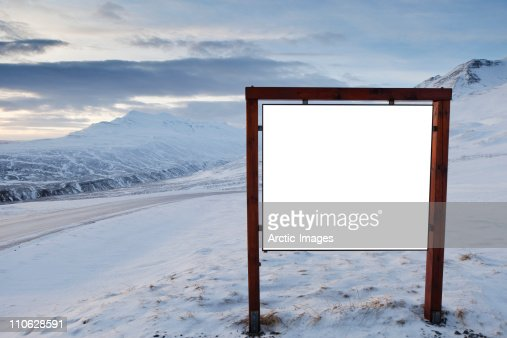 Empty billboard : Stock Photo