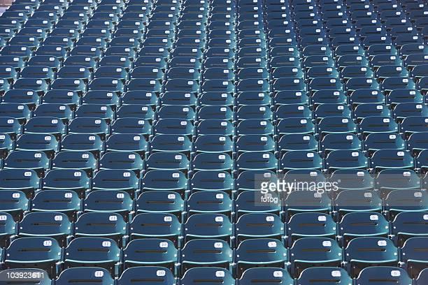 Empty bleacher seats