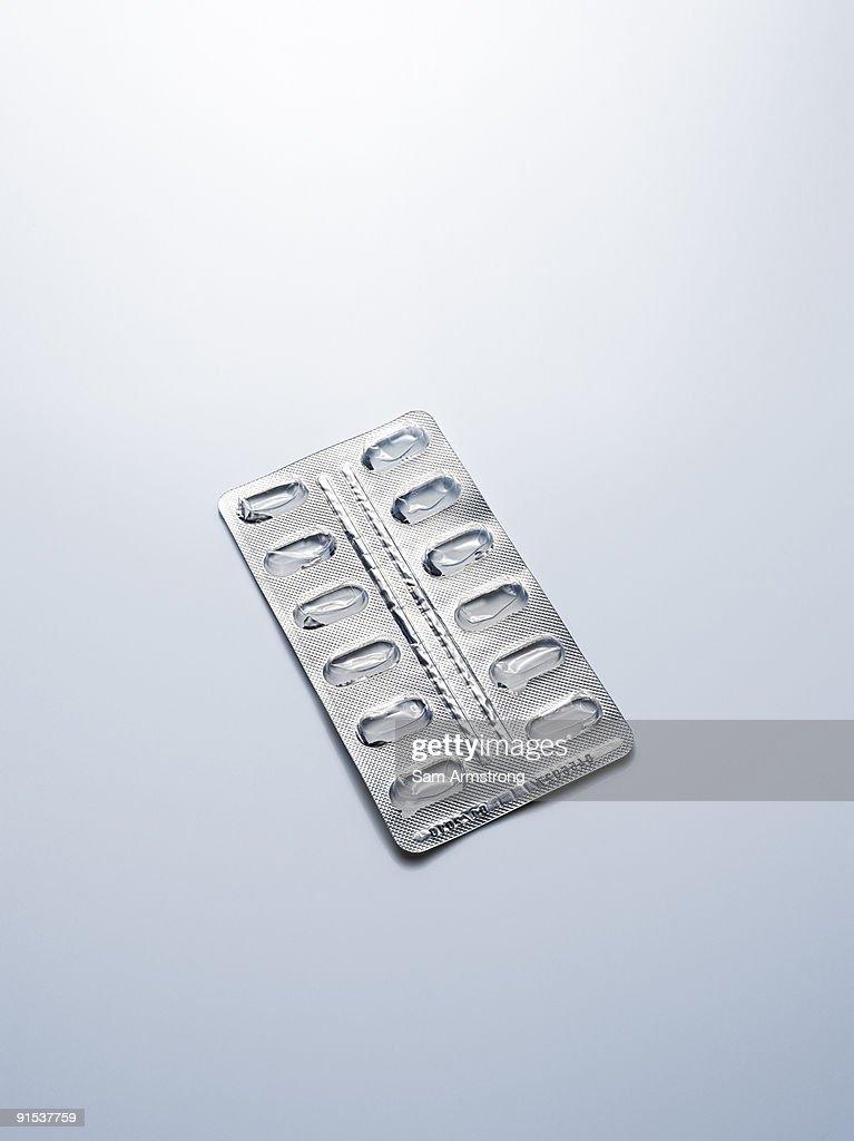 Empty blister pack