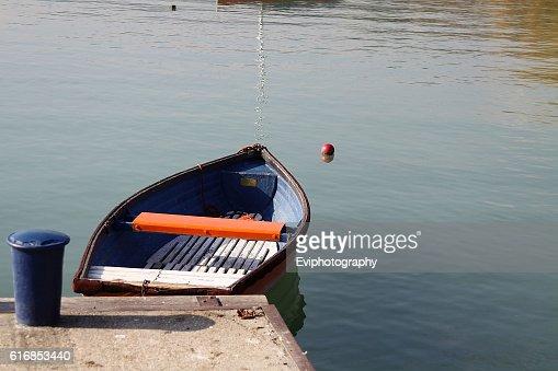 Empty boat : Stock Photo