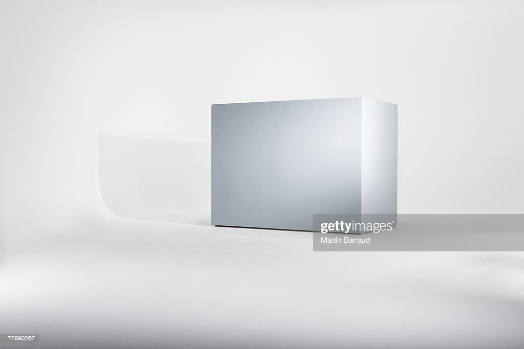 Empty box against white background