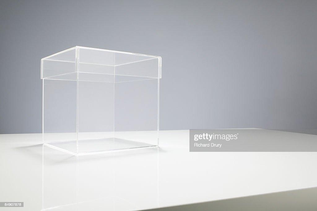Empty box on table