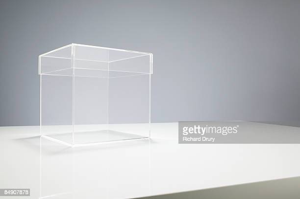 Empty box on table