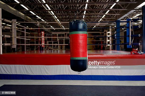 Empty boxing ring