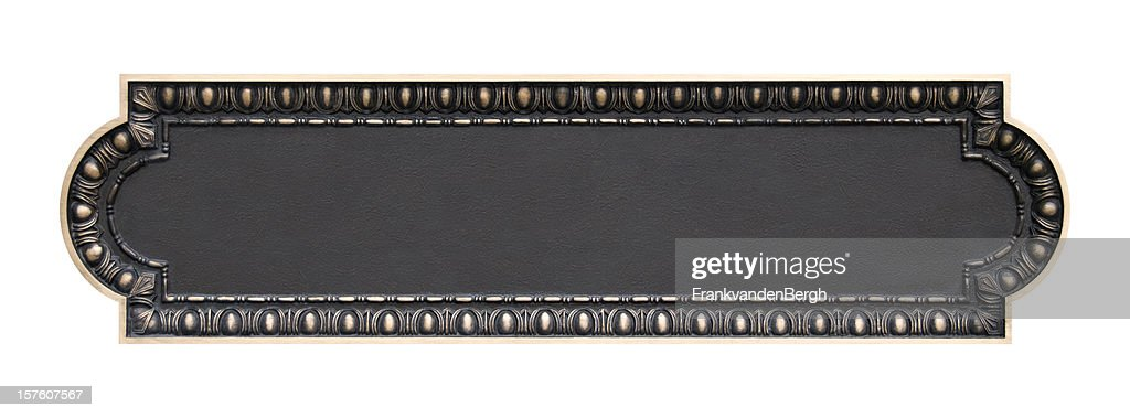Empty Brass Plaque : Stock Photo