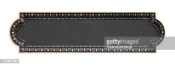 Vazia Placa de Bronze