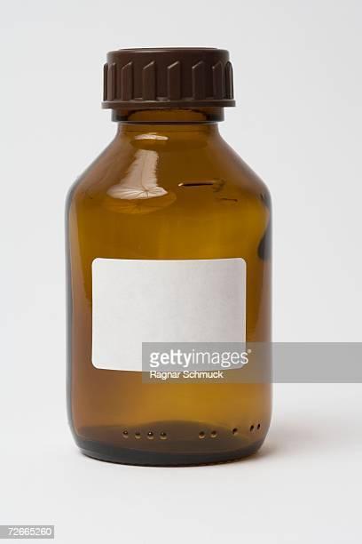 Empty brown bottle