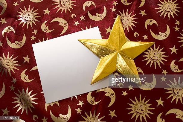 Empty card and a golden star