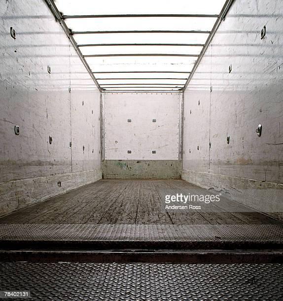 Empty cargo truck