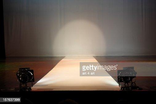 Empty catewalk stage lights