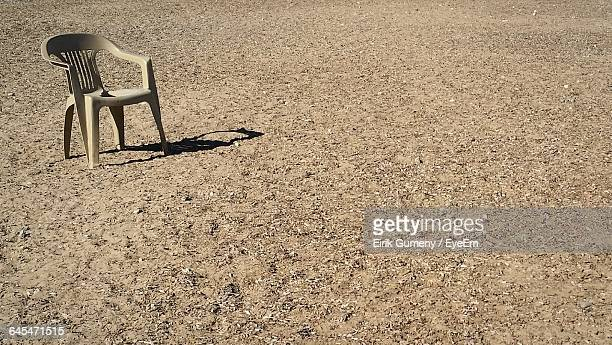 Empty Chair On Sand At Taylor Ranch Dog Park