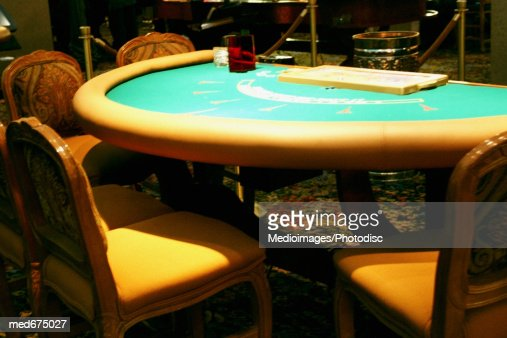 Castle poker game empty chair