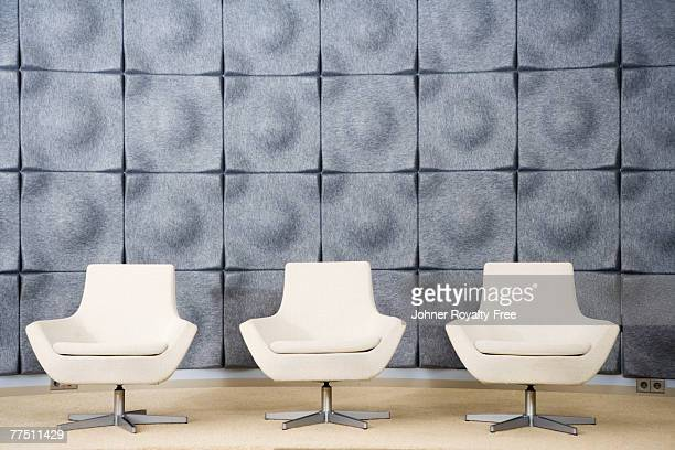 Empty chairs in an office Sweden.