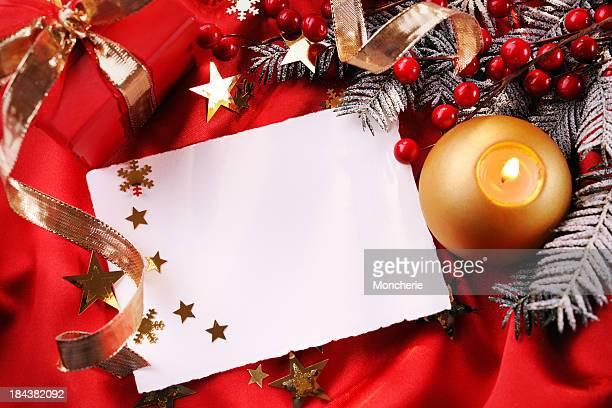 Vuoto Cartolina di Natale con decorazioni