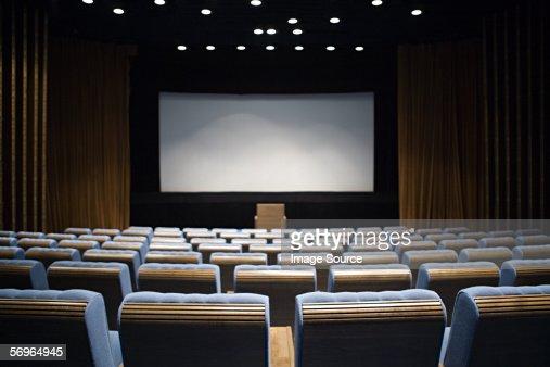 Empty cinema : Stock Photo