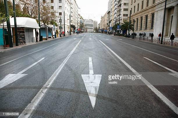 Empty city avenue