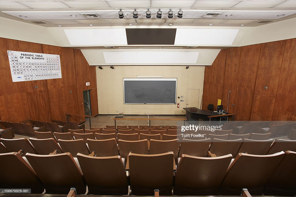 Empty classroom auditorium, elevated view : Stock Photo