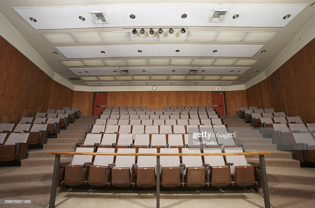 Empty classroom auditorium, low angle view : Stock Photo