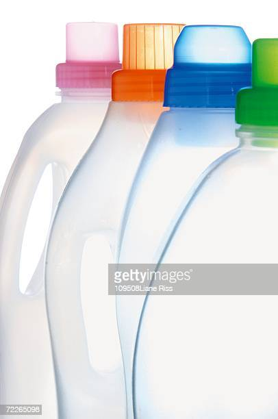 Empty cleaning agent bottle, close-up