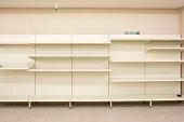 Empty closed supermarket in credit crunch