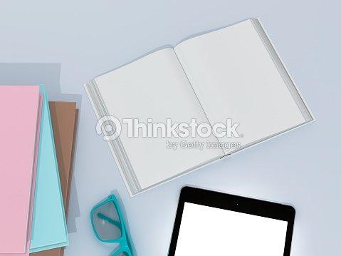 empty color book mockup template stock photo thinkstock