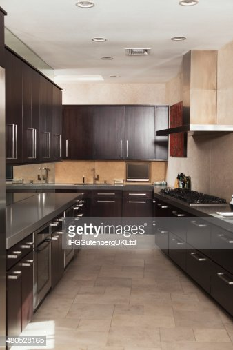 Empty Commercial Kitchen : Stockfoto