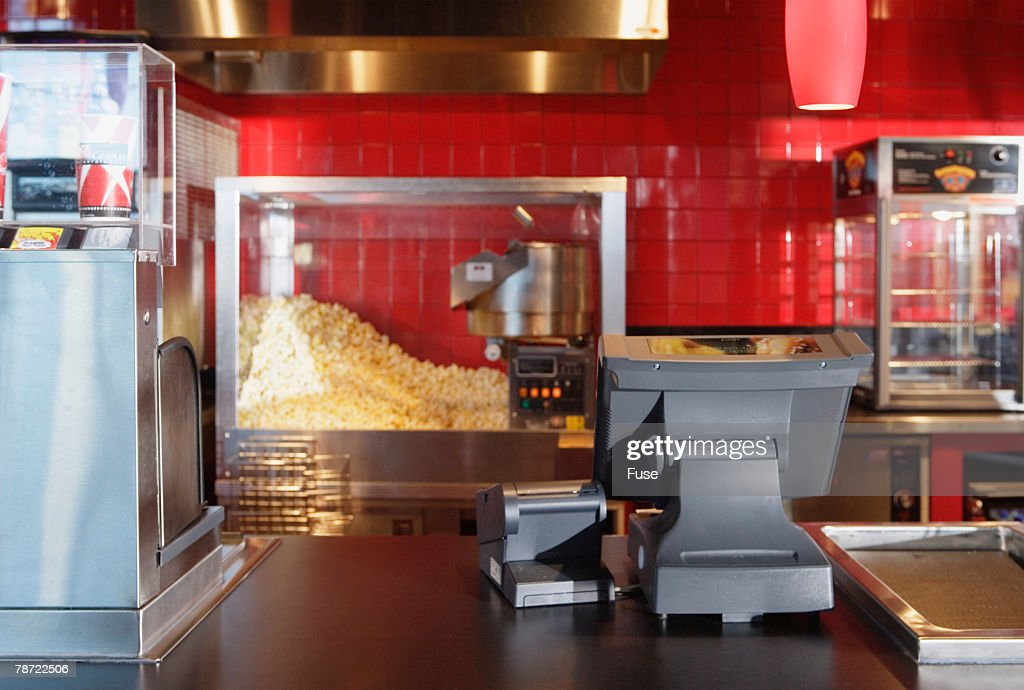 Empty Concession Counter at Movie Theater
