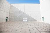 Empty concrete courtyard