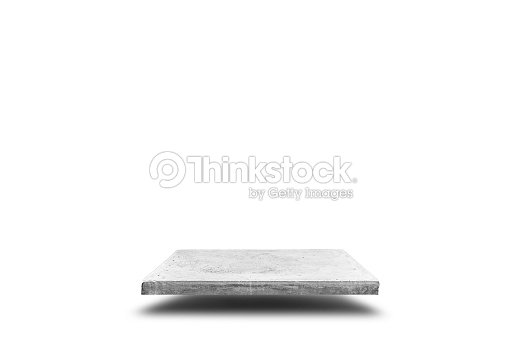 Empty concrete table on white background, Template mock up for display of your product. : Stock Photo