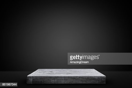 Empty concrete table, Template mock up for display of your product. : Stock Photo