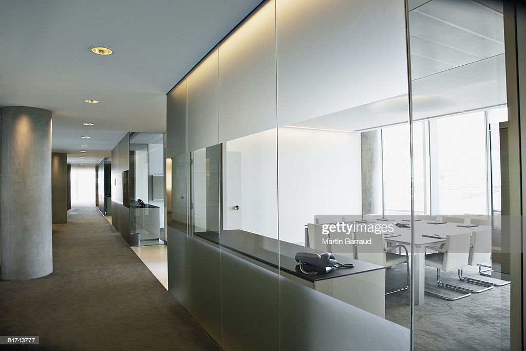 Empty conference room in modern office : Stock Photo