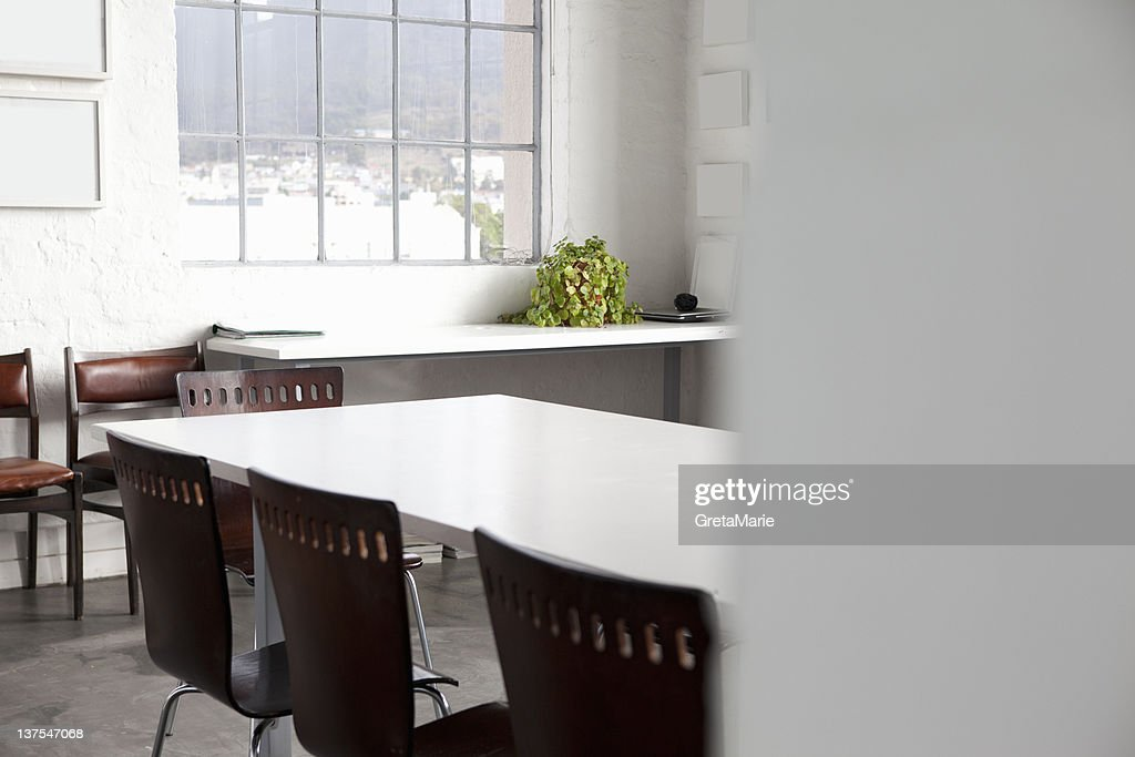 Empty conference room in office : Stock Photo