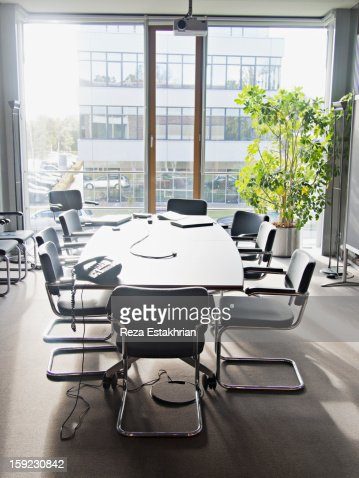 Empty conference room : Stock Photo